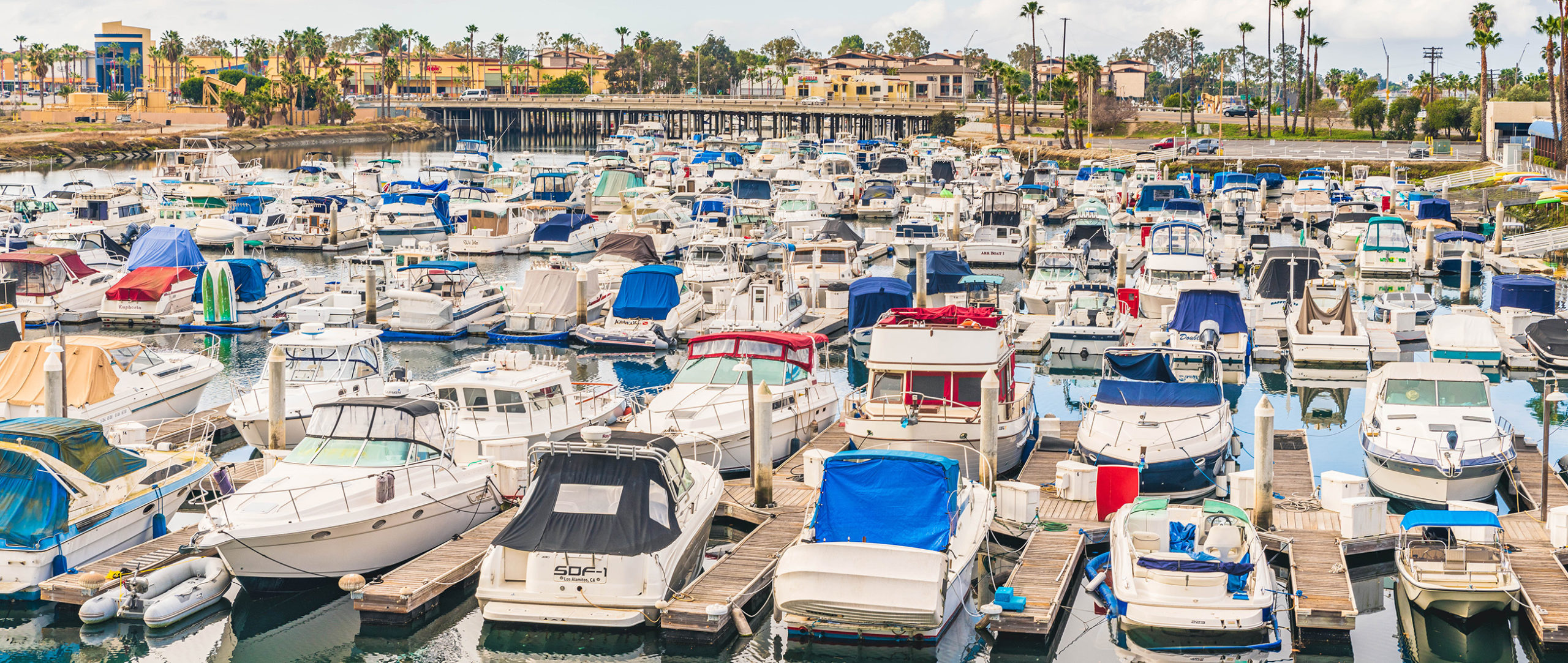 View of the marina