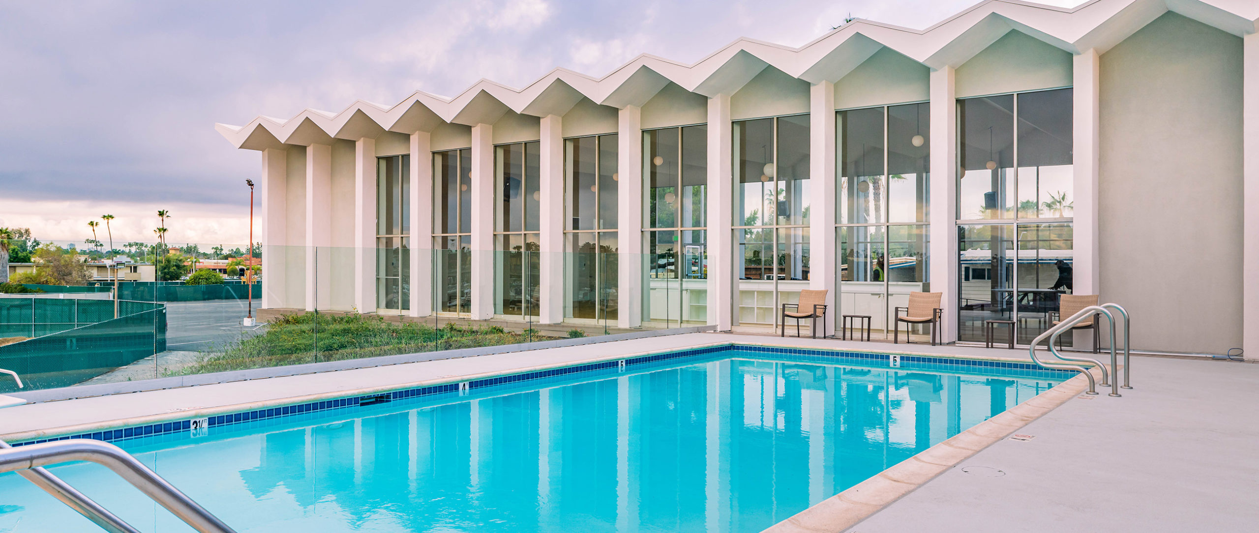 Clubhouse ballroom and pool